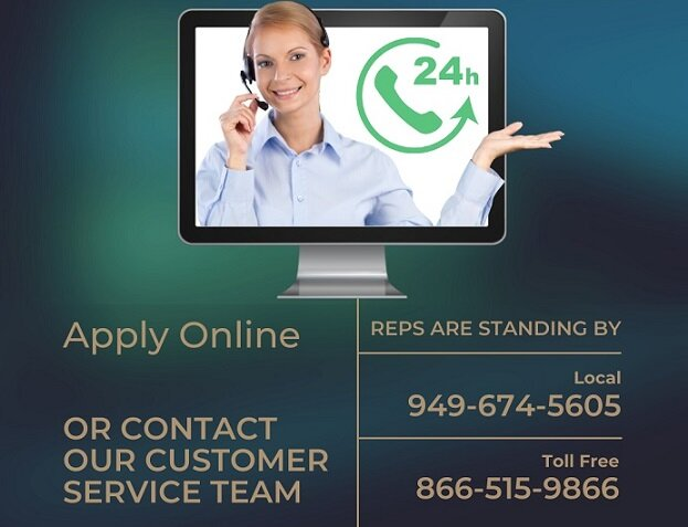 Apply for an online title loan with our company by filling out an application or contacting us.